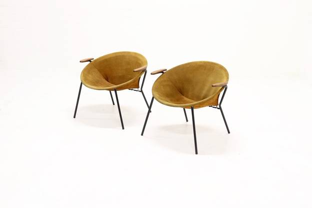Set of 2 Hans Olsen Balloon Chairs for Lea Design Denmark, 1960s