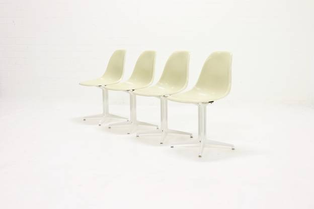 Set of 4 La Fonda Side Chairs by Charles & Ray Eames for Herman Miller, 1970s