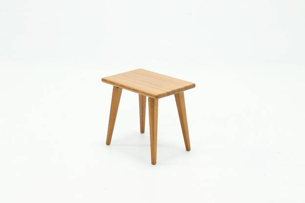 Carl Malmsten Solid Pine Stool by Svensk Sweden 1940s