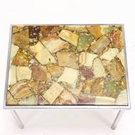 Onyx & Epoxy Resin Side Table, 1960s