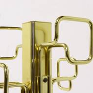 Mid Century Belgo Chrom Brass & Chrome Coat Rack 1970s