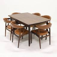 Large Extendable Rosewood Dining Table Danish Design, 1950s