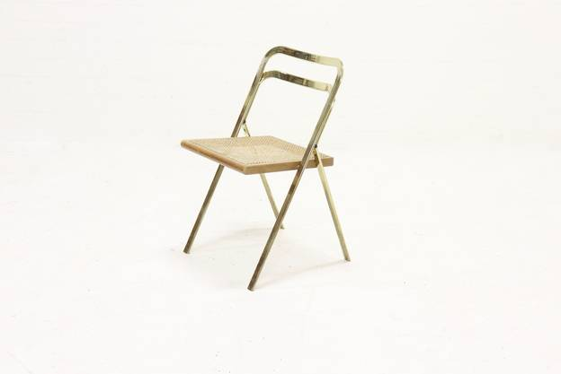 Mid Century Folding Chair by Giorgio Cattelan for Cidue 1970s