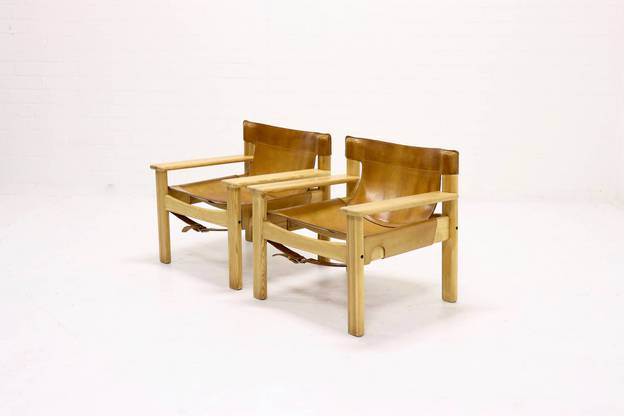 Set of 2 Natura Safari Lounge Chairs by Karin Mobring, 1970s