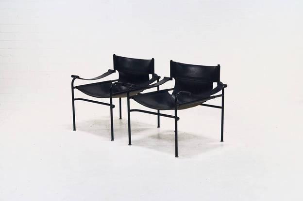 Set of 2 Walter Antonis Lounge Chairs for 't Spectrum, 1970's